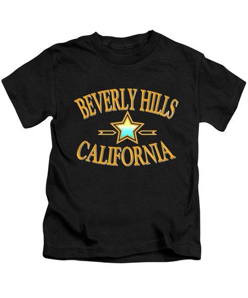 Beverly Hills California Star Design Kids T-Shirt