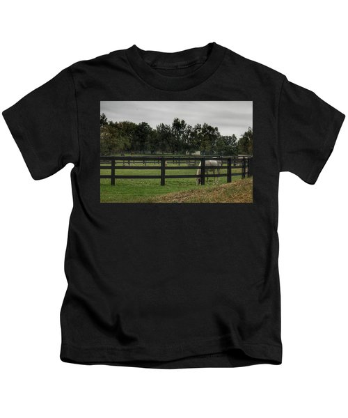 1004 - Beyond The Fence White Horse Kids T-Shirt
