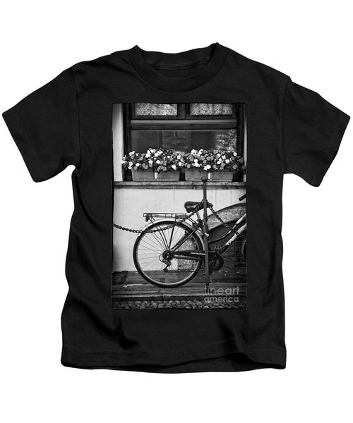 Bicycle With Flowers Kids T-Shirt