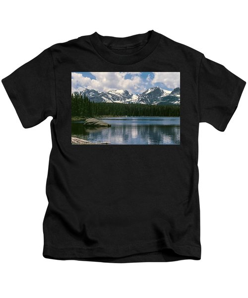 Bierstadt Lake Hallett And Otis Peaks Rocky  Mountain National Park Kids T-Shirt