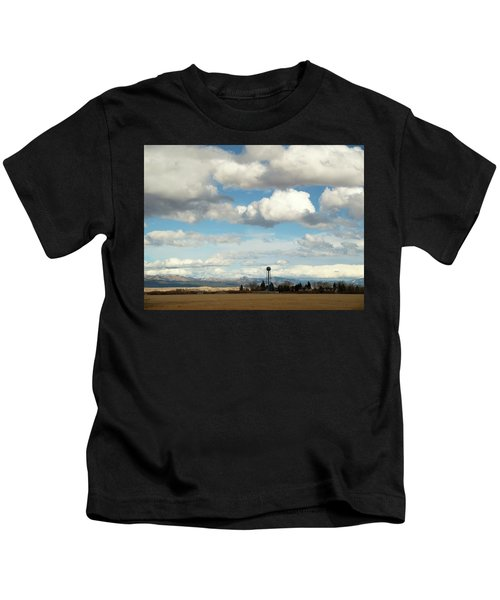 Big Sky Water Tower Kids T-Shirt