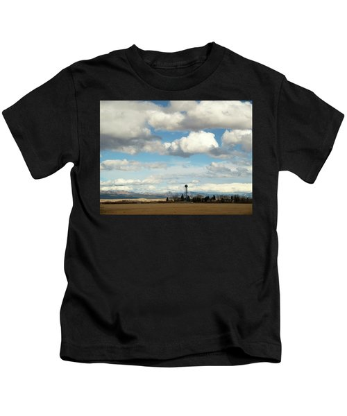 Big Sky Water Tower Kids T-Shirt