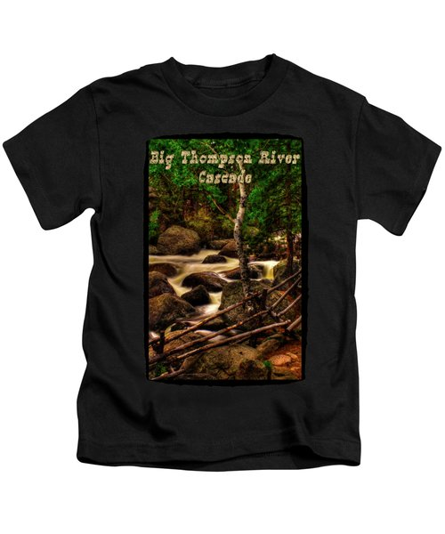 Big Thompson River In Rocky Mountain National Park Kids T-Shirt