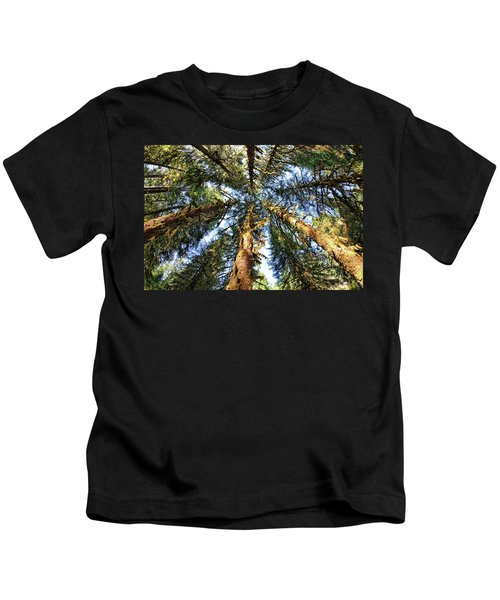 Big Trees In Olympic National Park Kids T-Shirt