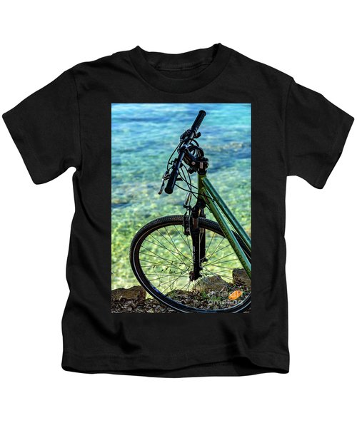 Biking The Rovinj Coastline - Rovinj, Istria, Croatia Kids T-Shirt