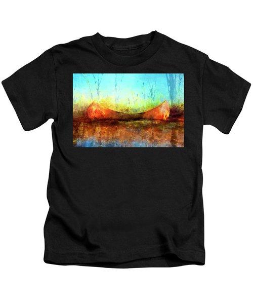 Birch Bark Canoe Kids T-Shirt