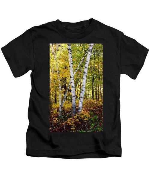 Birch In Gold Kids T-Shirt