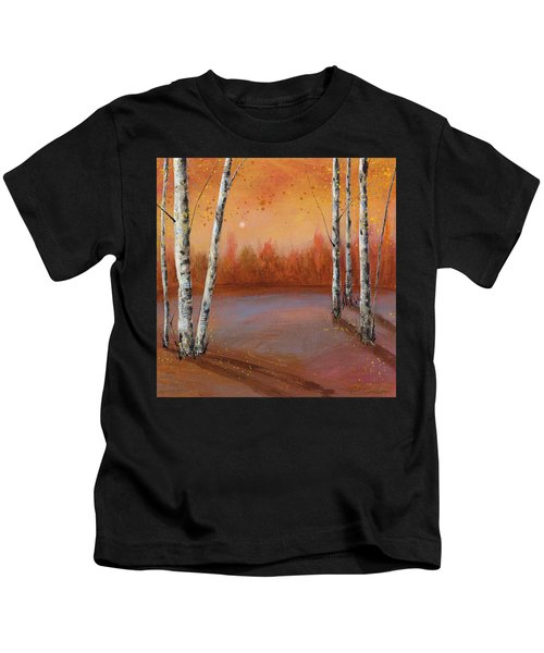 Birches In The Fall Kids T-Shirt