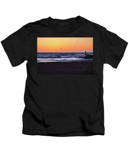 Birds At Sunrise Kids T-Shirt