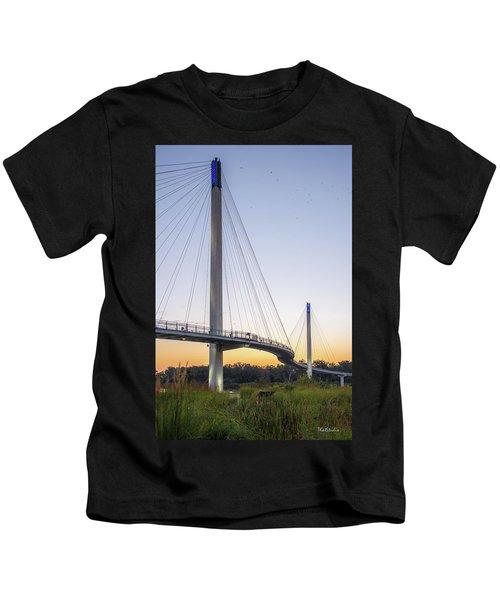 Birds Soaring Over Bob Kerry Bridge Kids T-Shirt