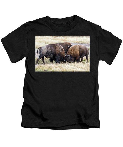 Bison Fight Kids T-Shirt