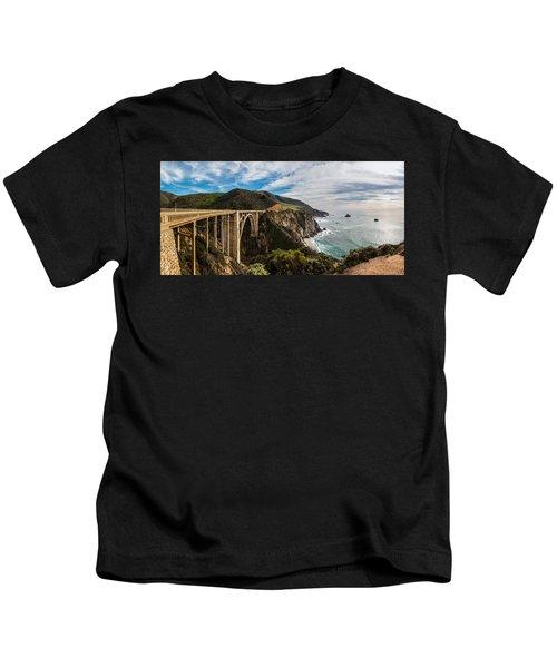 Bixby Creek Bridge Big Sur California  Kids T-Shirt