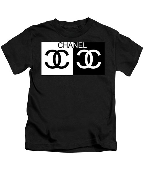 Black And White Chanel Kids T-Shirt