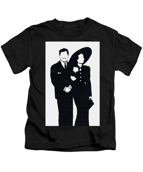 Black And White Couple Kids T-Shirt