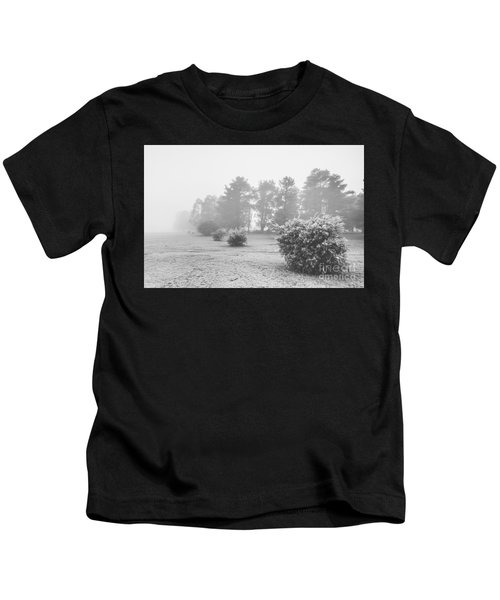 Black And White Snow Landscape Kids T-Shirt