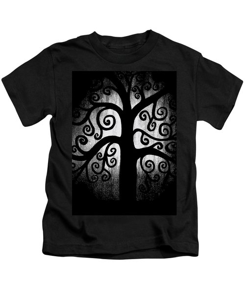 Black And White Tree Kids T-Shirt