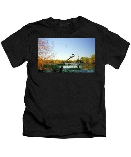Black-bellied Whistling Ducks At Brazos Bend Kids T-Shirt