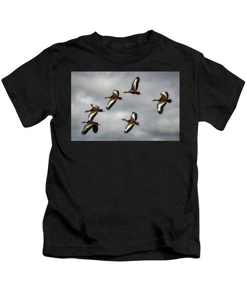 Black Bellied Whistling Ducks Kids T-Shirt