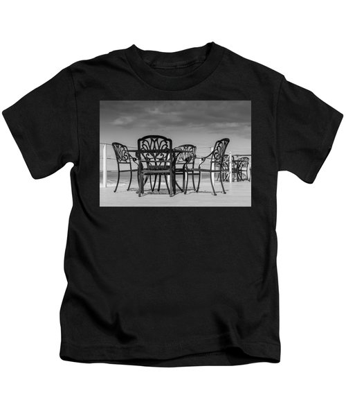 Black Cast Iron Seats Kids T-Shirt