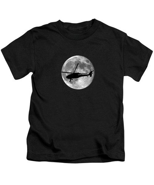 Black Hawk Moon .png Kids T-Shirt