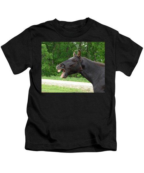 Black Horse Laughs Kids T-Shirt
