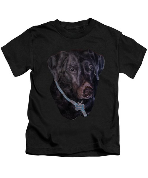 Black Labrador Retriever Drawing Kids T-Shirt