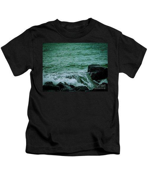 Black Rocks Seascape Kids T-Shirt