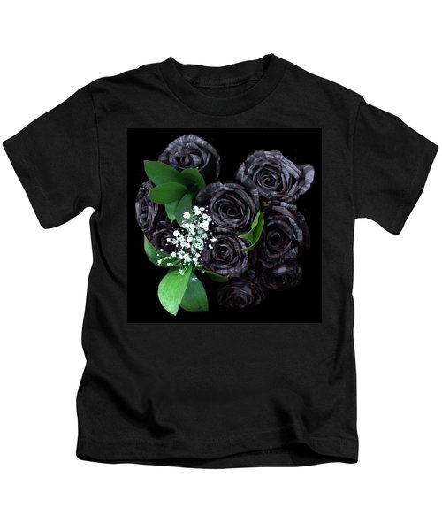 Black Roses Bouquet Kids T-Shirt