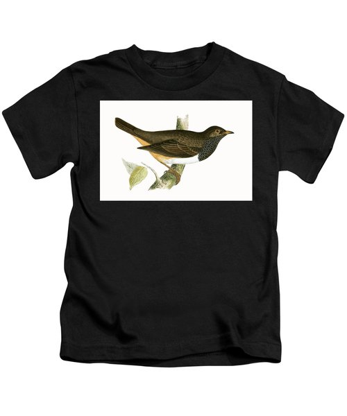 Black Throated Thrush Kids T-Shirt