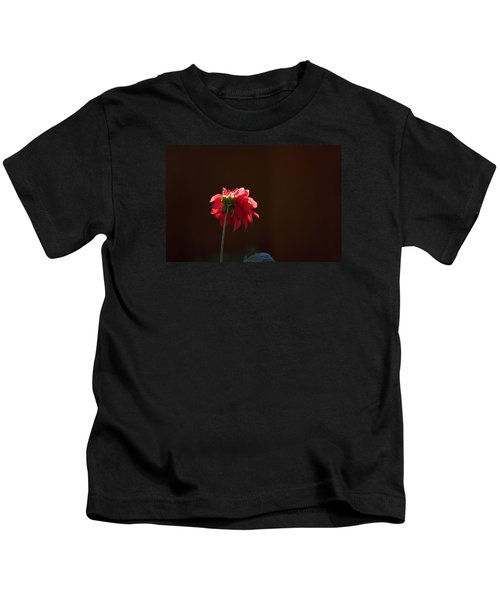Black With Rose Kids T-Shirt