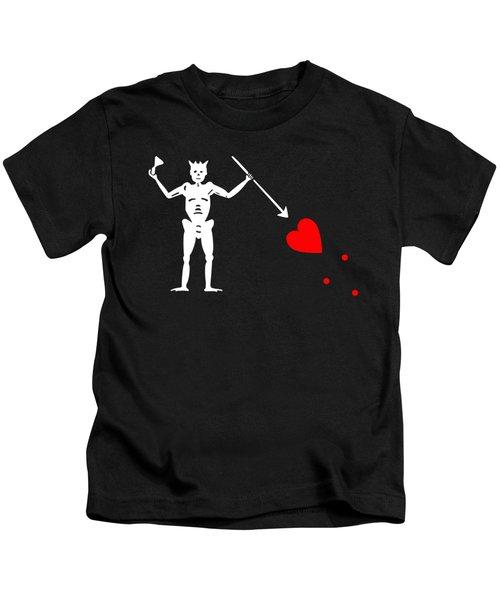 Blackbeard Pirate Flag Tee Kids T-Shirt