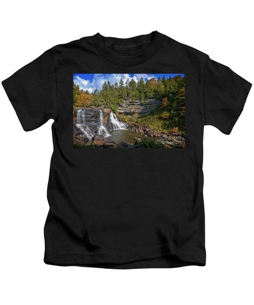 Blackwater Falls  In Autumn 3879c Kids T-Shirt