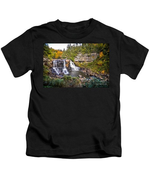 Blackwater Falls In Autumn3836c Kids T-Shirt