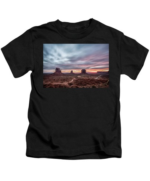 Blended Colors Over The Valley Kids T-Shirt