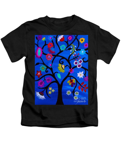 Blessed Tree Of Life Kids T-Shirt