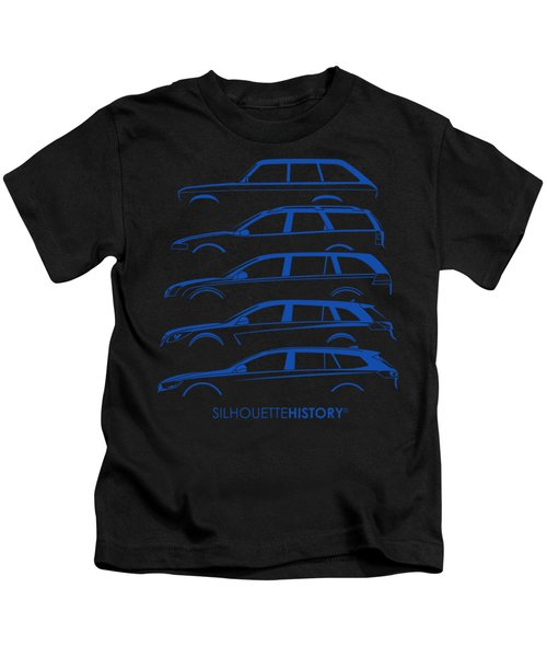 Blitz Family Wagon Silhouettehistory Kids T-Shirt