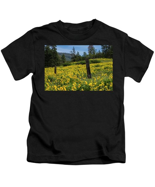 Blooming Fence Kids T-Shirt