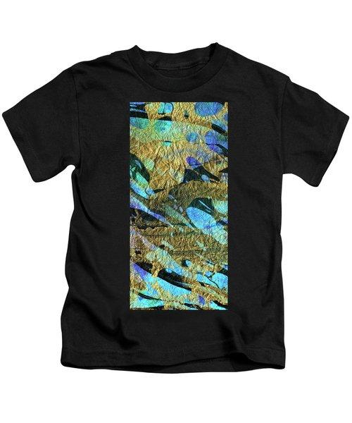 Blue Abstract Art - Deeper Visions 2 - Sharon Cummings Kids T-Shirt