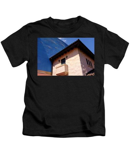 Blue And Vintage Color Architecture Photo In Saint Augustine Flo Kids T-Shirt