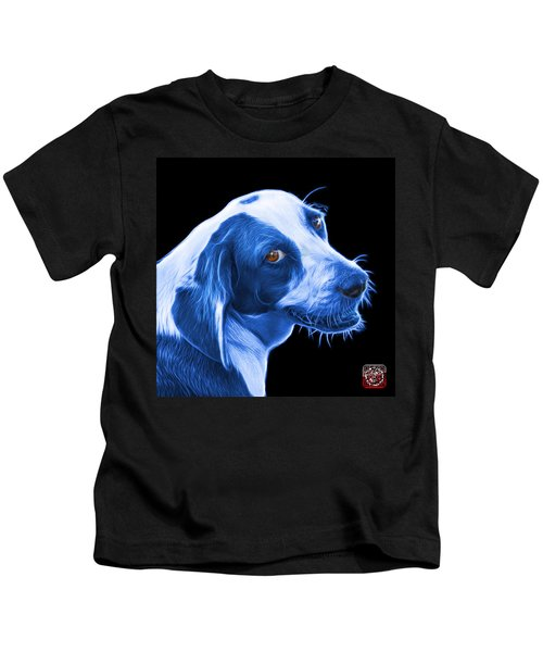 Blue Beagle Dog Art- 6896 - Bb Kids T-Shirt