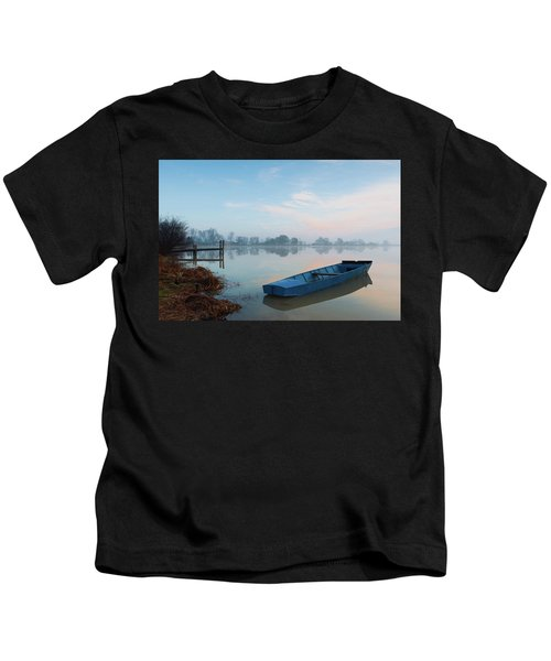 Blue Boat Kids T-Shirt