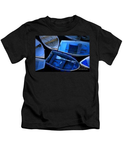 Blue Boats Kids T-Shirt