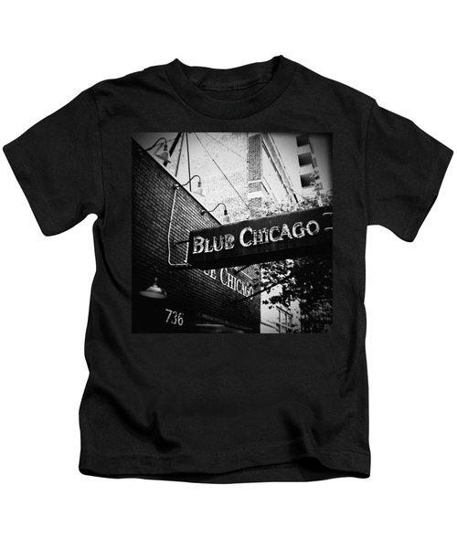 Blue Chicago Nightclub Kids T-Shirt