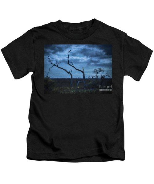Blue Evening  Kids T-Shirt