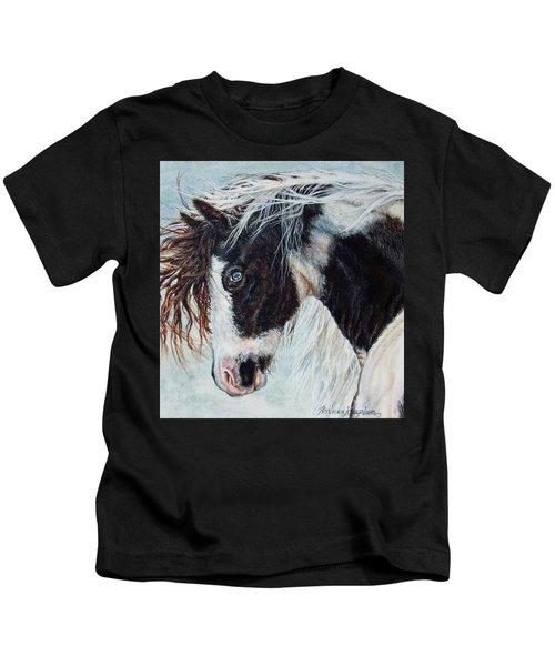 Blue Eyed Storm Kids T-Shirt