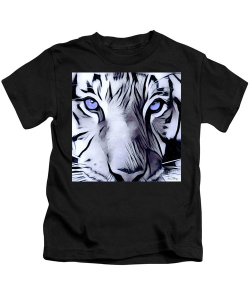 Blue Eyed Tiger Kids T-Shirt