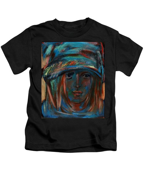 Blue Faced Girl Kids T-Shirt