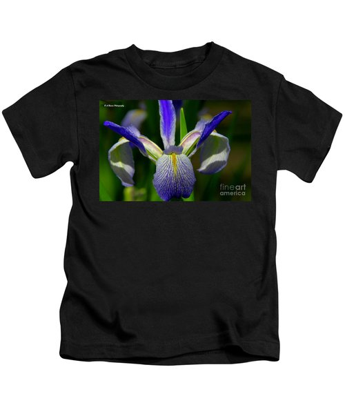 Blue Flag Iris Kids T-Shirt