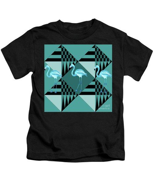 Blue Flamingo Kids T-Shirt