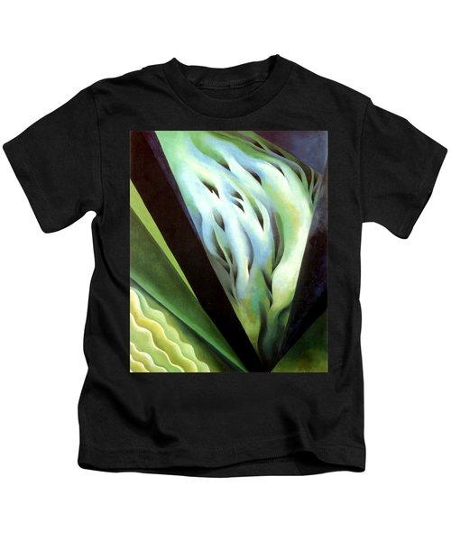 Blue Green Music Kids T-Shirt